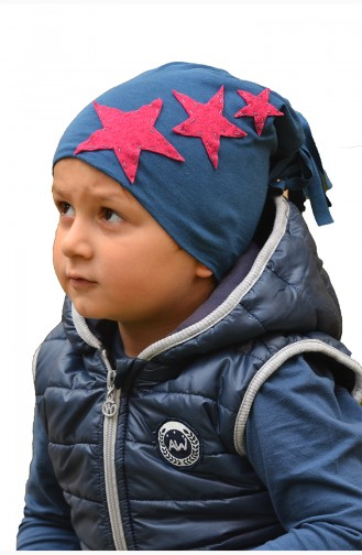 Navy Blue Hat and bandana models 65