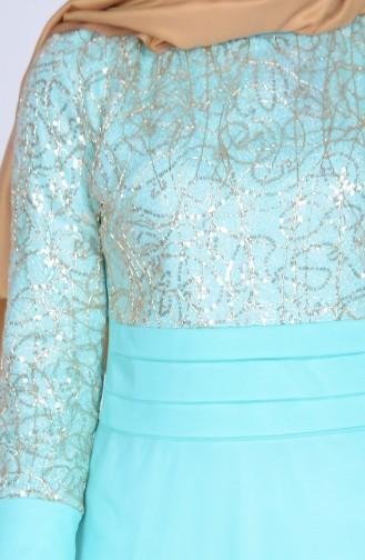 Mint green Dress 3059-07