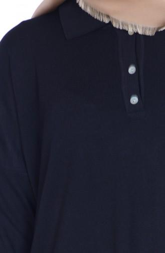 Asimetrik Bluz 0417-04 Siyah