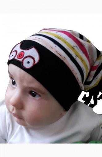 Hut aus Gekämmte Baumwolle NS44 Naturfarbe Schwarz 44