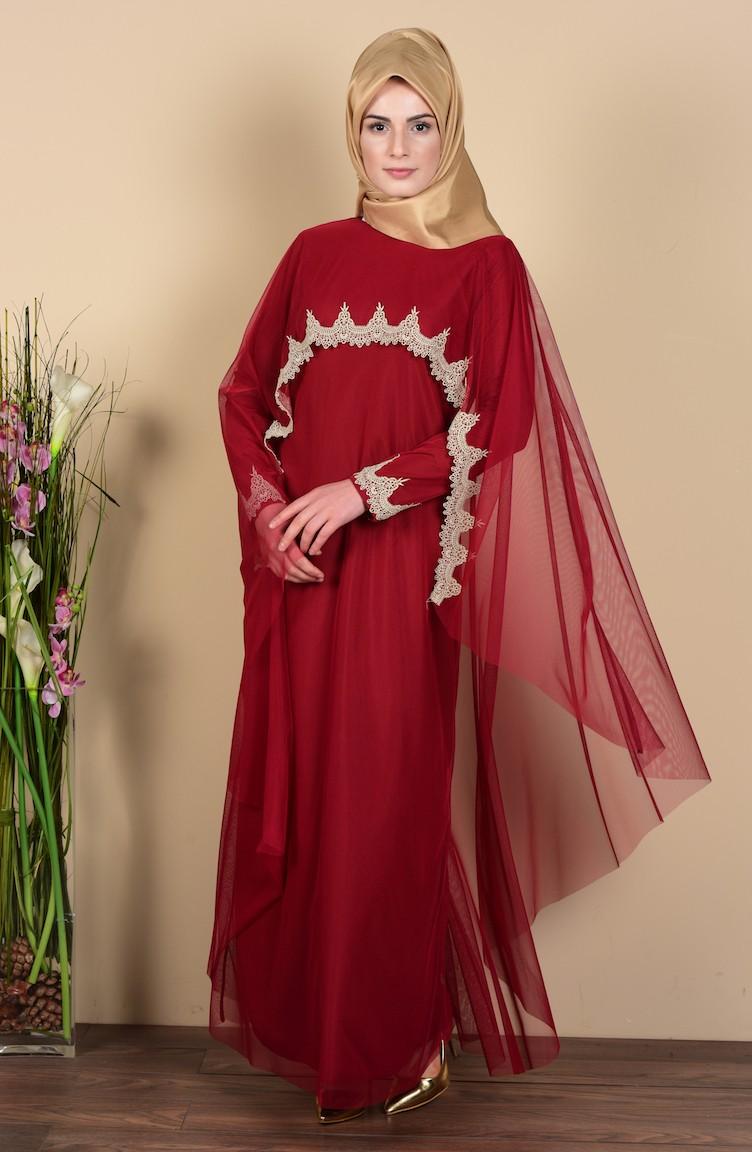 7364c64e84d Claret red Dress 3061-06
