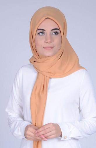 Krep Eşarp 50039-16 Koyu Sarı