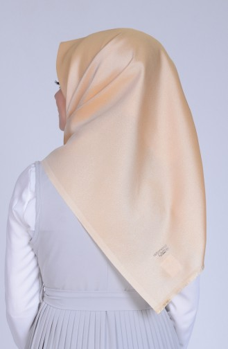 Cream Snap-Fastener Scarf 25