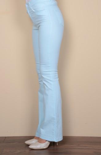 İspanyol Paça Pantolon 8163-07 Mint Mavi Sefamerve