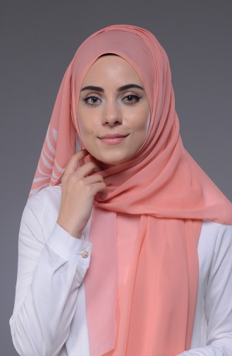 Pinkish Orange Sjaal 50001-12