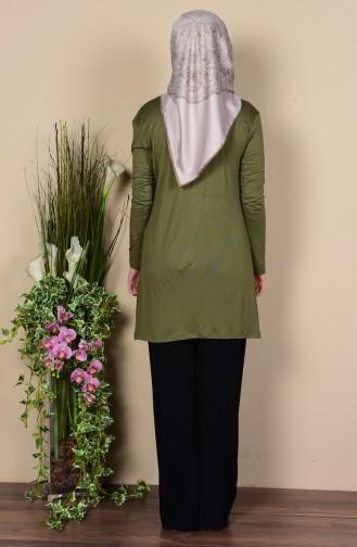 Light Khaki Green Combed Cotton 0728-51