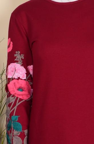 Robe İmprimée 2780-04 Bordeaux 2780-04