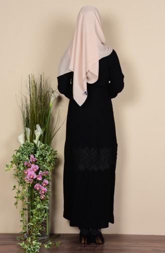 Black Abaya 7724-02