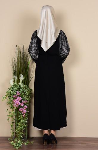 Kleid mit Abaya 2er Set 0711-03 Schwarz 0711-03