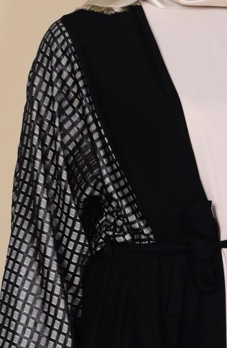 Ensemble Deux Pieces Robe Abaya 0711-03 Noir 0711-03