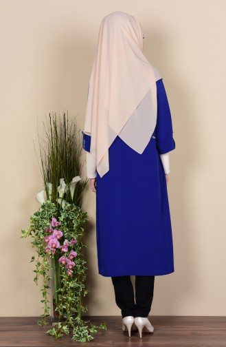 Ensemble Tunique Cape 0107-09 Bleu Roi 0107-09