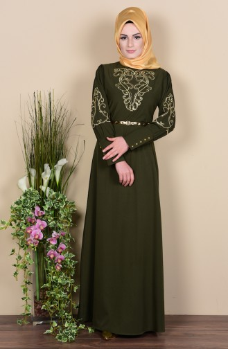 Embroidered Dress 5030-04 Green 5030-04