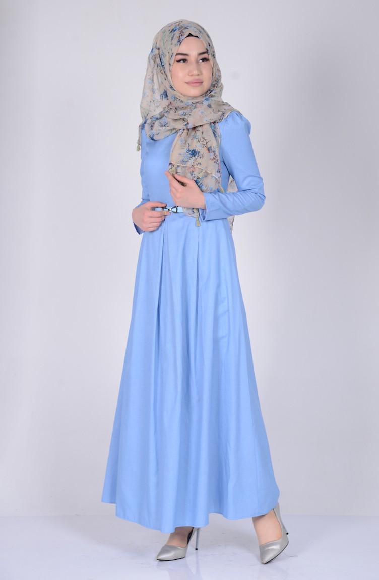 e47dd49371491d Ice Blue İslamitische Jurk 2781-14