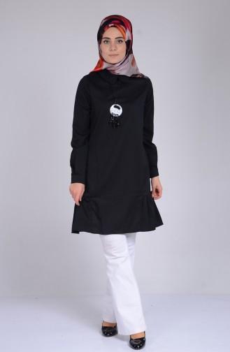 Tunique avec Collier 1430-07 Noir 1430-07