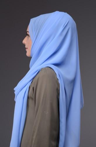 XL Châle Mousseline 50045-103 Bleu Glacé 103