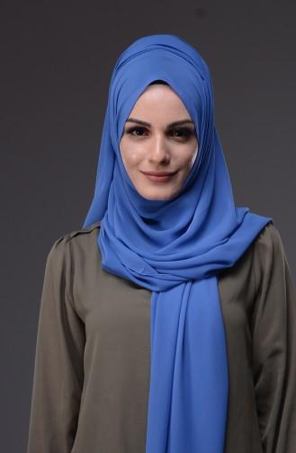 XL Schal aus Chiffon  50045-130 Blau 130