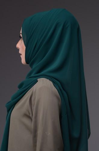 XL Schal aus Chiffon  50045-44 Smaragdgrün 44