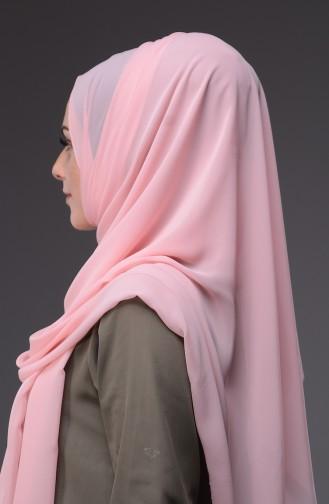 XL Schal aus Chiffon  50045-73 Hell Pink 73