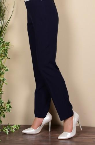 Yan Fermuarlı Klasik Pantolon 2762 NRM-03 Lacivert Sefamerve