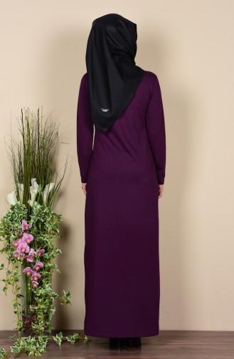TUBANUR Necklace Two Yarn Dress 2779-08 Purple 2779-08