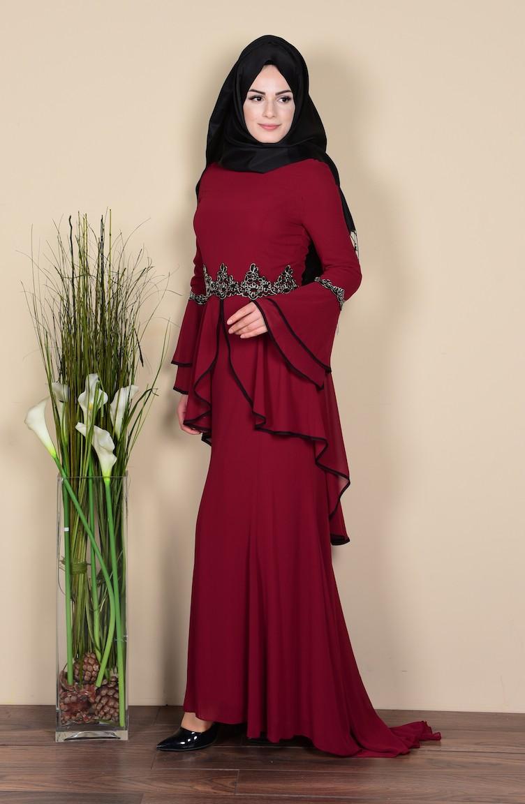 ec52a6765fa Habillé Hijab Bordeaux 3012-07