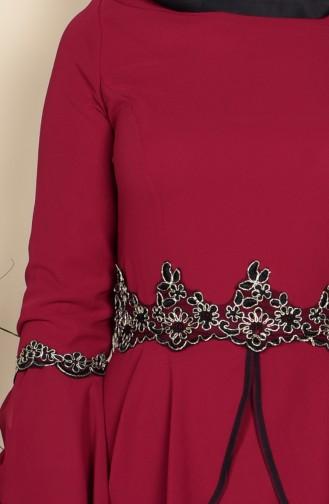 Habillé Hijab Bordeaux 3012-07