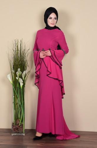 Habillé Hijab Fushia 3012-03