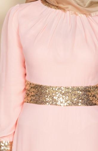 Salmon Islamic Clothing Evening Dress 2398-15