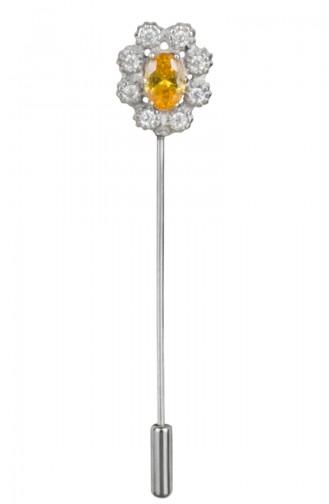 Klein Silber Kopftuchnadel ANYZK-B1-04 Orange 1-04