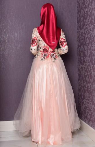 فستان للمناسبات بتفاصيل من الدانتيل  7102-02