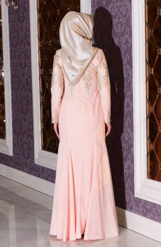 فستان للمناسبات مزين بتفاصيل من الدانتيل  7605-03