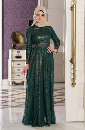 Emerald İslamitische Avondjurk 7110-04