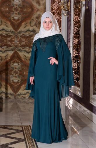 فستان للمناسبات بتفاصيل من الدانتيل  7221-06