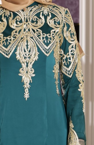 Emerald Islamic Clothing Evening Dress 7605-01
