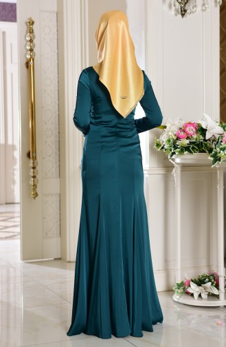 Robe De Soirée Paillette 7621-04 Vert emeraude 7621-04