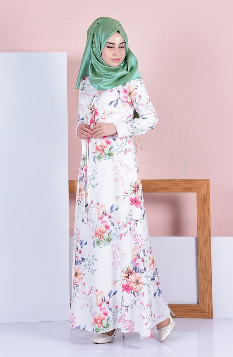 Nar çiçeği bebe yakalı örgü elbise modeli