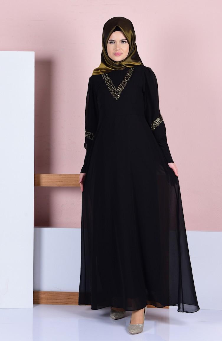 2573b700d31d3b Black İslamitische Jurk 99061-02 ...