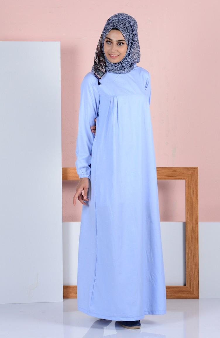 67953d552f2e Hooded Dress 1454-09 Baby Blue 1454-09