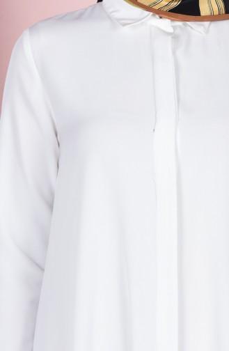 Uzun Krep Tunik 2812-03 Ekru