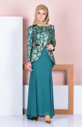 Green İslamitische Jurk 3015-03
