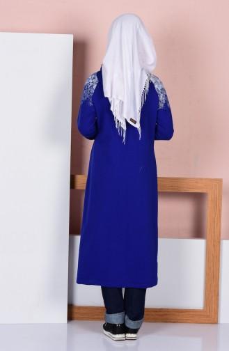 Cape a Poches et Fermeture 1440-03 Bleu Roi 1440-03