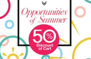 Opportunities of Summer %50 Discount of Cart