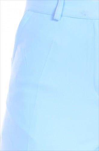 Pantalon Simple 5060-06 Bleu Bébé 5060-06