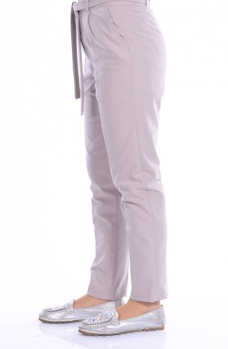 Pantalon Simple a Ceinture 5050-03 Beige 5050-03