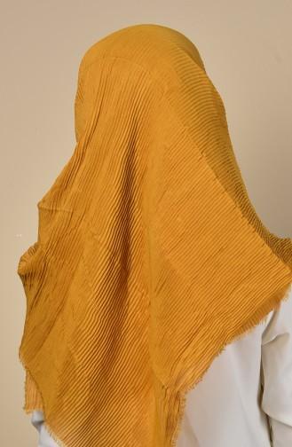 Light Mustard Shawl 03