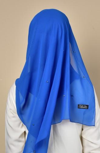 Metal stapled Chiffon Shawl 3030-07 Blue 07