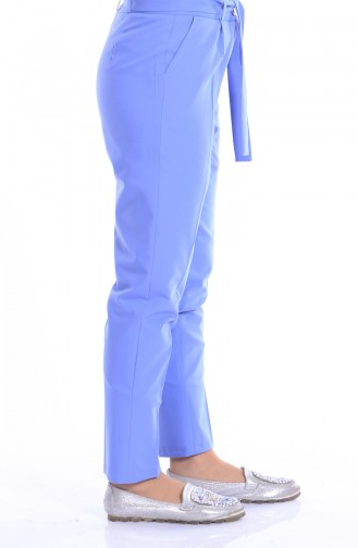 Pantalon Simple a Ceinture 5050-02 Bleu 5050-02