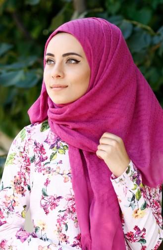 Dark Pink Sjaal 02