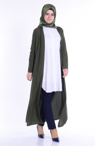 Lange Jacke aus Viskose 4028-18 Grün 4028-18