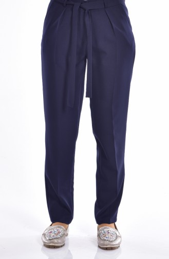 Pantalon Simple a Ceinture 5050-01 Bleu marine 5050-01